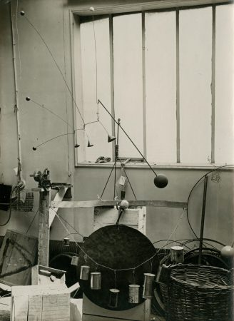 Calder's studio at 14 rue de la Colonie (1933)
