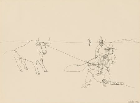 Cowboys Roping a Steer (1932)